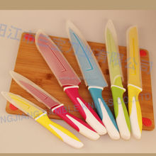 6pcs Soft TPR Handle and Stainless Steel Knife Set Fruit Knife