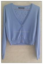 Fashion chiffon cardigan,knitted cardigan,ladies fashion korean sweater