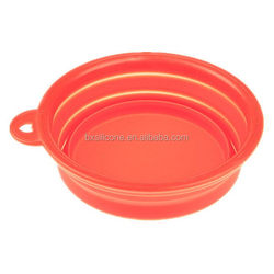 New best selling silicone collapsible water pet bowl
