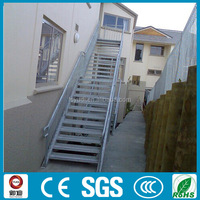 Commercial projects outdoor metal fire escape straight stairs