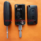 Peugeot 406 blade 2 buttons flip remote key shell ( NE78 Blade - 2Button - With battery place )