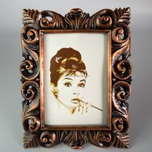 Customized imitation metal resin photo frame