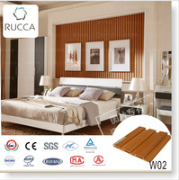 204X16mm The Natural Finishing Eco-wood,Foshan Rucca WPC Decorative Wall Panel for Interior Decoration of Bathroom Design