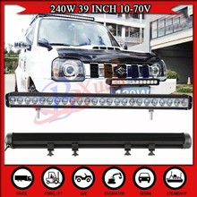40'' 22360LM IP68 12V 24V DC LED Light Bar offroad SUV,JEEP,Car,Boat,Bus,Tractor led work light bar 240w