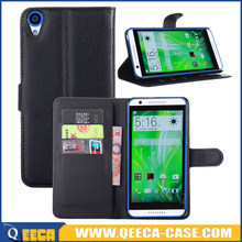 Good quality PU leather wallet case flip cover for htc desire 820 case