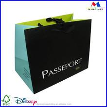 2015 custom luxury matte black paper bag, low cost paper bag manufacturer,customized paper gift bag