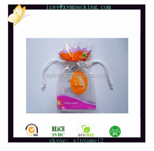熱い販売の結婚式pvcギフトバッグ