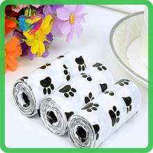 2015 biodegradable printed pet waste bag/doggie poop bag/dog poop bag