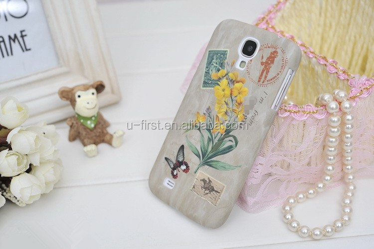 Goegtu Royal Florid Flower Series Plastic Case for S4
