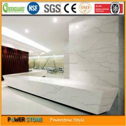 White Calacatta Low Cost Quartz Countertops