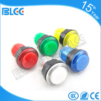 32mm small circle shape novelty plastic push button with micro switch