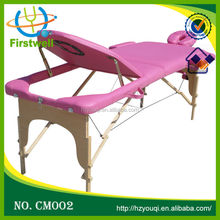 Fixed wooden stationary massage table/wooden wood sofa bed