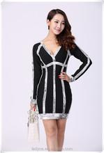 fast shipping!china guangzhou bandage dress follow the fashion trend