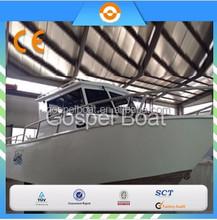 CE certification 8M Enclosed Aluminum Fishing Vessel/outboard motor