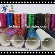 zhejiang impresos brillo de pvc de la pu de cuero para bolsos