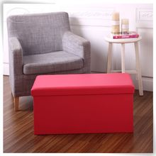 Pink multifunctional PU leather storage bench wholesale