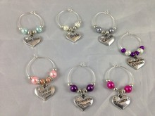 Cheap alloy Wedding wine glass charms,fashion wine glass charms for Top table decoration