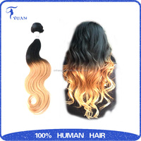 Hao yu Hair indian Loose Wave Hair,100% human Ombre Hair Weaves, indian Virgin Hair Extention Transactions