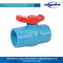 China factory customed pvc 1 inch ball valve