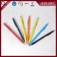 Hot Selling High Quality Slim Metal Ball Pen with Stylus in Different Colors