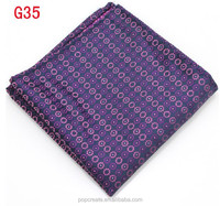 2015 polka dot handkerchief pocket aqure for men