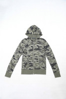 Womens Thermal Waffle Hoodie Camouflage Jackets