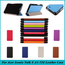 """New Arrival High Quality 7"""" Karst Pattern 3 Folding Ultra Slim PU Leather Case For Acer Iconia Talk S A1-724"""