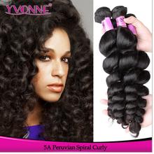 Raw Unprocessed Vigin Hair Spiral Curly Cheap Peruvian Virgin Hair
