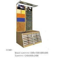 CC001 -CC006 Wholesale modern stone drawer display rack