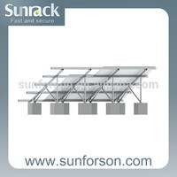 solar Concrete based ground mount PV mounting system