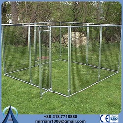 Cheap or galvanized comfortable dog kennel with veranda