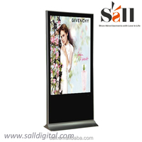 "65""standalone lcd touch screen monitor tv mall shopping"