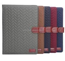Fashion Luxury Grid Soft Leather Case For iPad Air 2