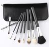 2015 Pro 8pcs Women's Makeup Brushes Tools Foundation Brush with Leather Case