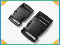 black flat plastic side release buckles for bags and suitcase