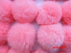 Top Quality 7cm Luxury Fluffy Rabbit Fur Ball Genuine Fur Pompom Keychain / Fur Pom Keychain