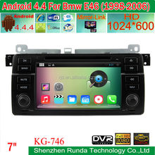 Android 4.4.4 Car GPS Navigation Built in WIFI BT for BMW 3 Series 1024*600 HD Screen