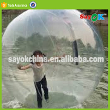 inflatable walk on floating water plastic bouncing fountain glass ball