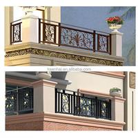 Vintage Decorative Brass Finish Integral Aluminum Deck Rail