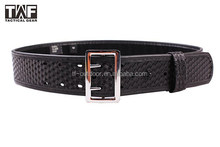 2015 New Military Tactical synthetic leathere Police Duty Belt with steel buckle