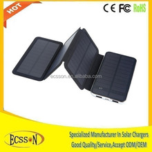 10000mah solar panel made in china cheap with the largest solar panel for fasting charging