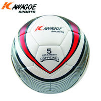 Colorful official size Rubber made cheap prices soccer football