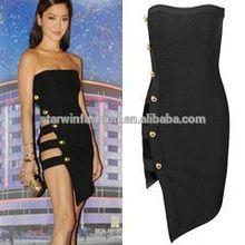 2015 vestido preto porno atacado vestido da celebridade para venda