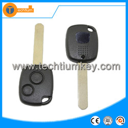 2 button transponder car key blanks wholesale Auto key with logo and blade cover shell key for Honda fit city
