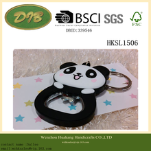 PANDA cube soft rubber bottle opener /Key chain