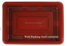 China plastic food packaging container meat tray