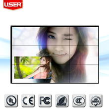 Hot sale broadcast 47inch lcd video wall 4.7mm ultra narrow bezel station screen wall lcd monitor IPS with controller