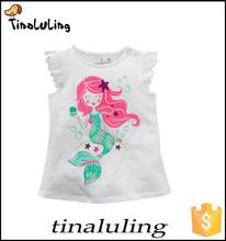 new baby girls printed short sleeve lovely cartoon t-shirt 100 cotton t shirt