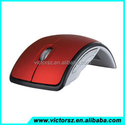 High Quality Folding Wireless Optical Mouse 2.4G USB 2.0 + USB Transceiver for PC Laptop
