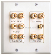 7.1 /7.2/ 8.2 SPEAKER WALL PLATE 2 GANG WHITE COMPENENT WALL MOUNT